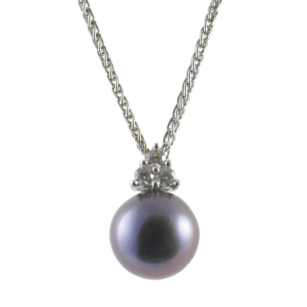 18ct White Gold Freshwater Pearl Pendant
