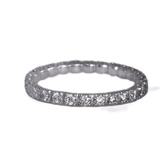 Platinum Full Diamond Eternity Ring, 0.74ct