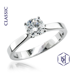 Classic Platinum Set Diamond Solitaire Ring, 0.20ct