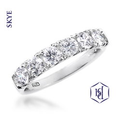 Skye Platinum Set Round Brilliant Cut Diamond Ring, 0.53ct