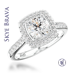 Skye Brava Platinum Diamond Cluster Ring, 1.00ct