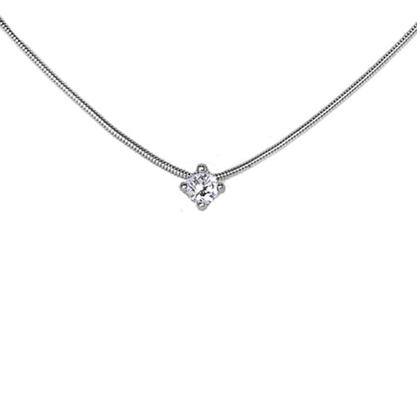 18ct White Gold Diamond Pendant, 0.34ct