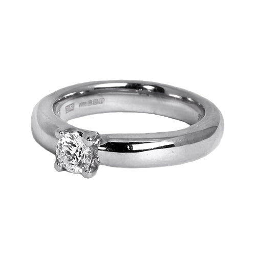 18ct White Gold Diamond Solitaire Engagement Ring, 0.35ct