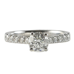 Platinum Diamond Engagement Ring, 0.96ct