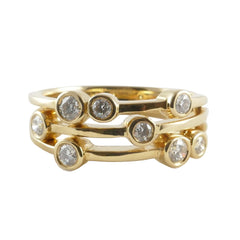 18ct Yellow Gold Scatter Ring, 0.35ct