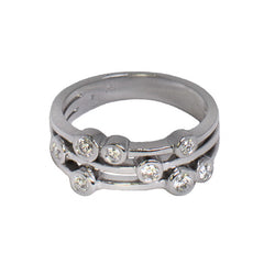 18ct White Gold Diamond Scatter Ring, 0.35ct