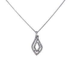 18ct White Gold Diamond Pendant, 0.42ct