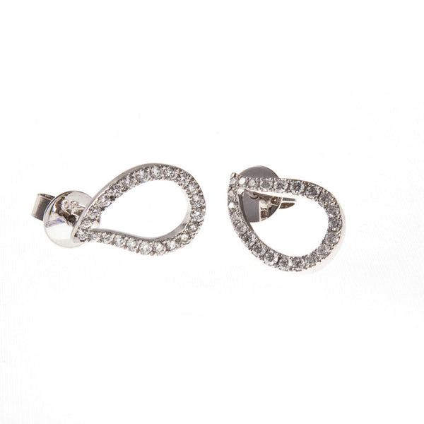 18ct White Gold Diamond Stud Earrings, 0.70ct