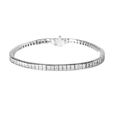 18ct White Gold Diamond Bracelet, 5.14cts