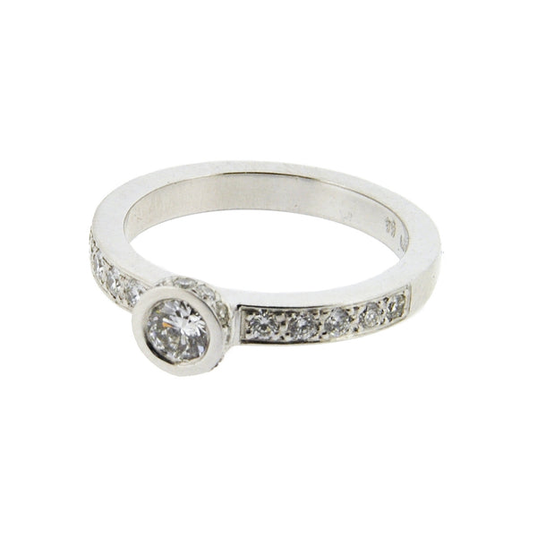 18ct White Gold Diamond Ring, 0.64ct