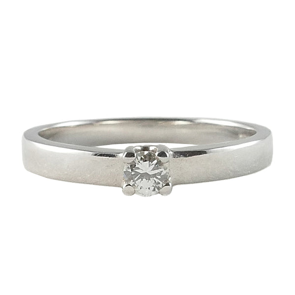 18ct White Gold Diamond Solitaire Engagement Ring, 0.12ct