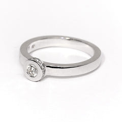18ct White Gold Diamond Ring, 0.33ct