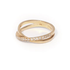 18ct Yellow Gold Diamond Ring, 0.17ct