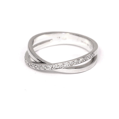 18ct White Gold Diamond Ring, 0.17ct