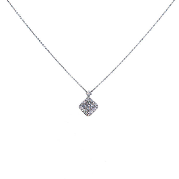 18ct White Gold Diamond Set Pendant, 0.70ct
