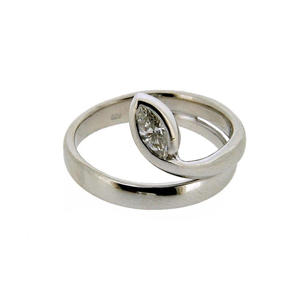 18ct White Gold Diamond Solitaire Ring, 0.34ct