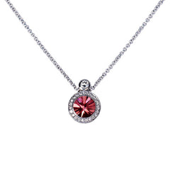 18ct White Gold & Pink Tourmaline Pendant, 1.48ct