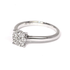 18ct White Gold Diamond Ring, 0.36ct