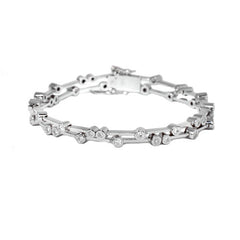 18ct White Gold & Diamond Double Scatter Bracelet, 1.24cts
