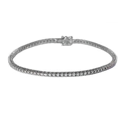 18ct White Gold Diamond Bracelet, 1.50ct