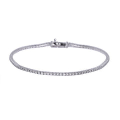 18ct White Gold Diamond Bracelet, 0.30ct