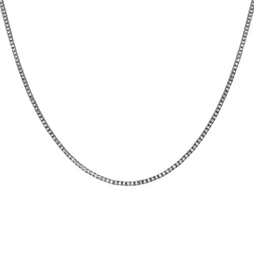 18ct White Gold Metre Diamond Necklace, 4.90ct