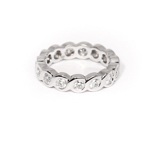 18ct White Gold Diamond Full Eternity Ring, 1.35cts