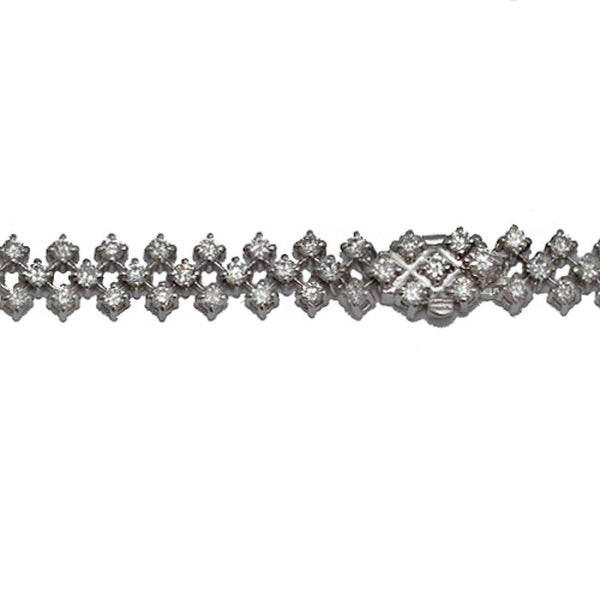 18ct White Gold & Diamond Bracelet, 2.25cts
