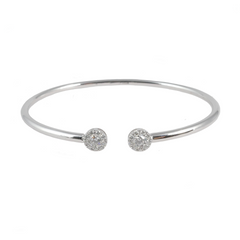 18ct White Gold & Diamond Open Bangle, 0.53ct