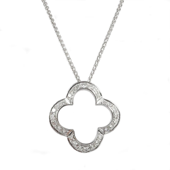 18ct White Gold & Diamond Pendant, 1.10cts