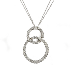 18ct White Gold & Diamond Entwined Circle Pendant, 2.30cts