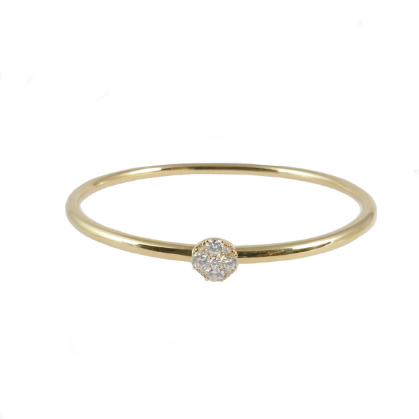 18ct Yellow Gold & Diamond Bangle, 0.75ct