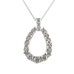 18ct White Gold Diamond Set Pendant, 2.60cts