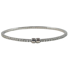 18ct White Gold Diamond Tennis Bangle, 1.50cts