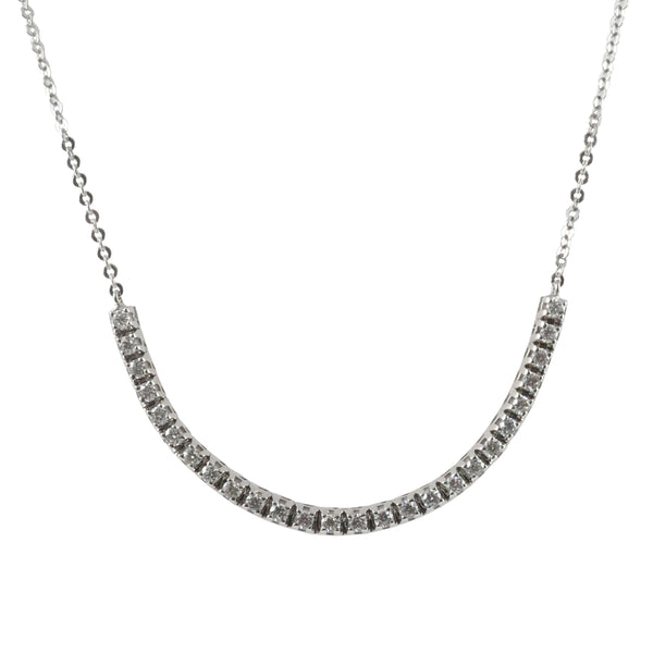 18ct White Gold Adjustable Diamond Necklace, 0.35ct