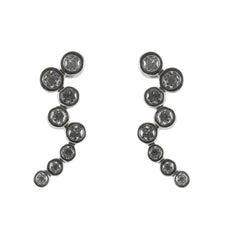 18ct White Gold Diamond Drop Earrings, 1.25cts