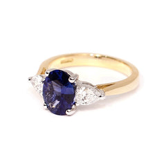 18ct Yellow Gold Sapphire & Diamond Ring, 1.76ct