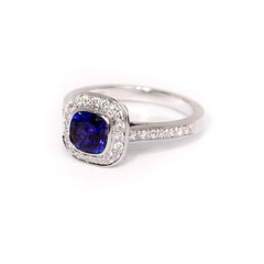 18ct White Gold Sapphire & Diamond Ring, 1.06ct