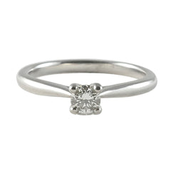 Platinum Diamond Solitaire Engagement Ring, 0.27ct