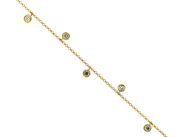 18ct Yellow Gold Diamond Spectacle Bracelet, 0.38ct