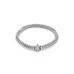 18ct White Gold & Diamond Flex'it Wild Rose Bracelet, 0.33ct