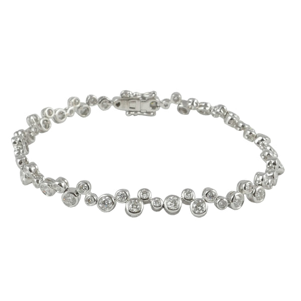 18ct White Gold Diamond Bracelet, 3.21cts