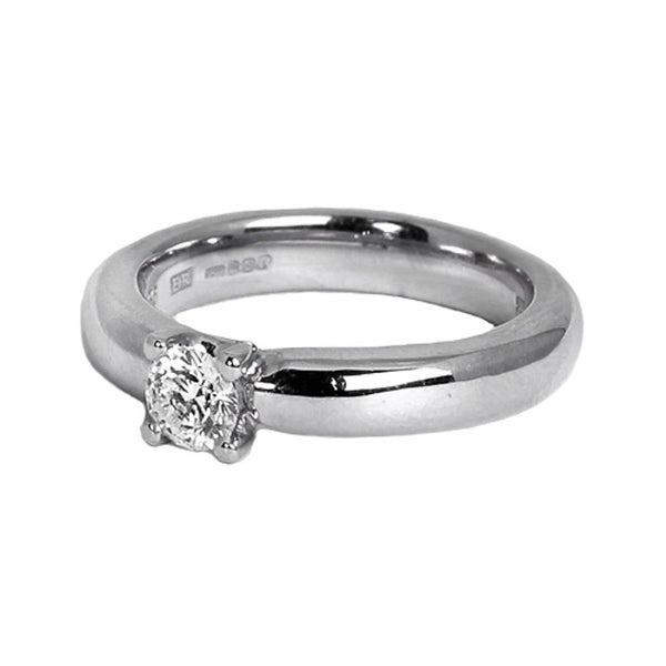 18ct White Gold Diamond Solitaire Ring, 0.45ct