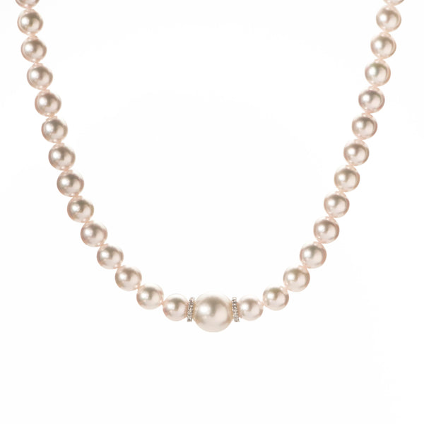 Akoya & South Sea Pearl Necklace, 0.30ct