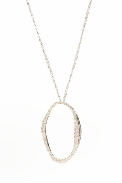 18ct White Gold and Diamond Pendant, 1.30ct