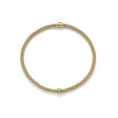 18ct Yellow Gold & Diamond Flex'it Niue Necklace, 0.19ct