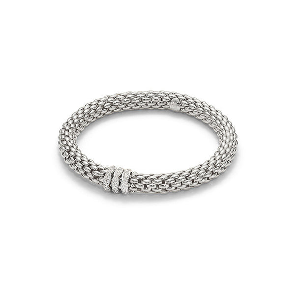 18ct White Gold & Diamond Flex'it Love Nest Bracelet, 0.57ct - from