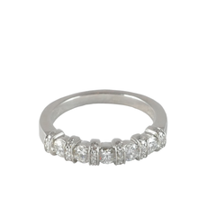 Platinum Set Diamond Ring, 0.59ct