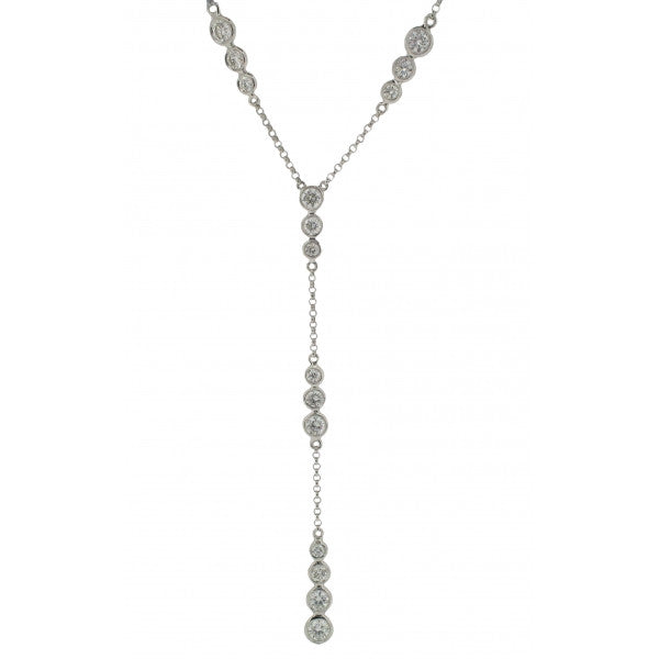 18ct White Gold Diamond Necklace, 1.15ct