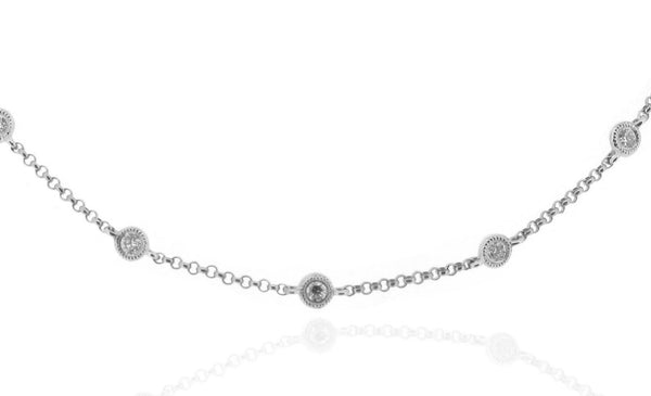 18ct White Gold Diamond Necklace, 0.52ct